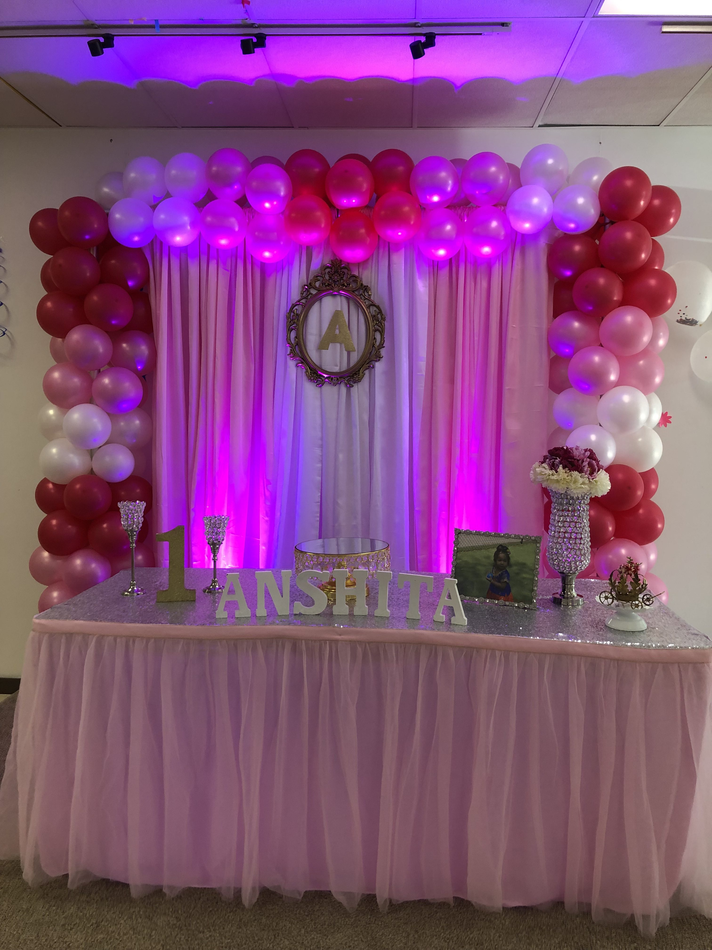 1st Birthday Decorations Girl.Baby Girl First Birthday Decorations At Biryani Pot Duluth