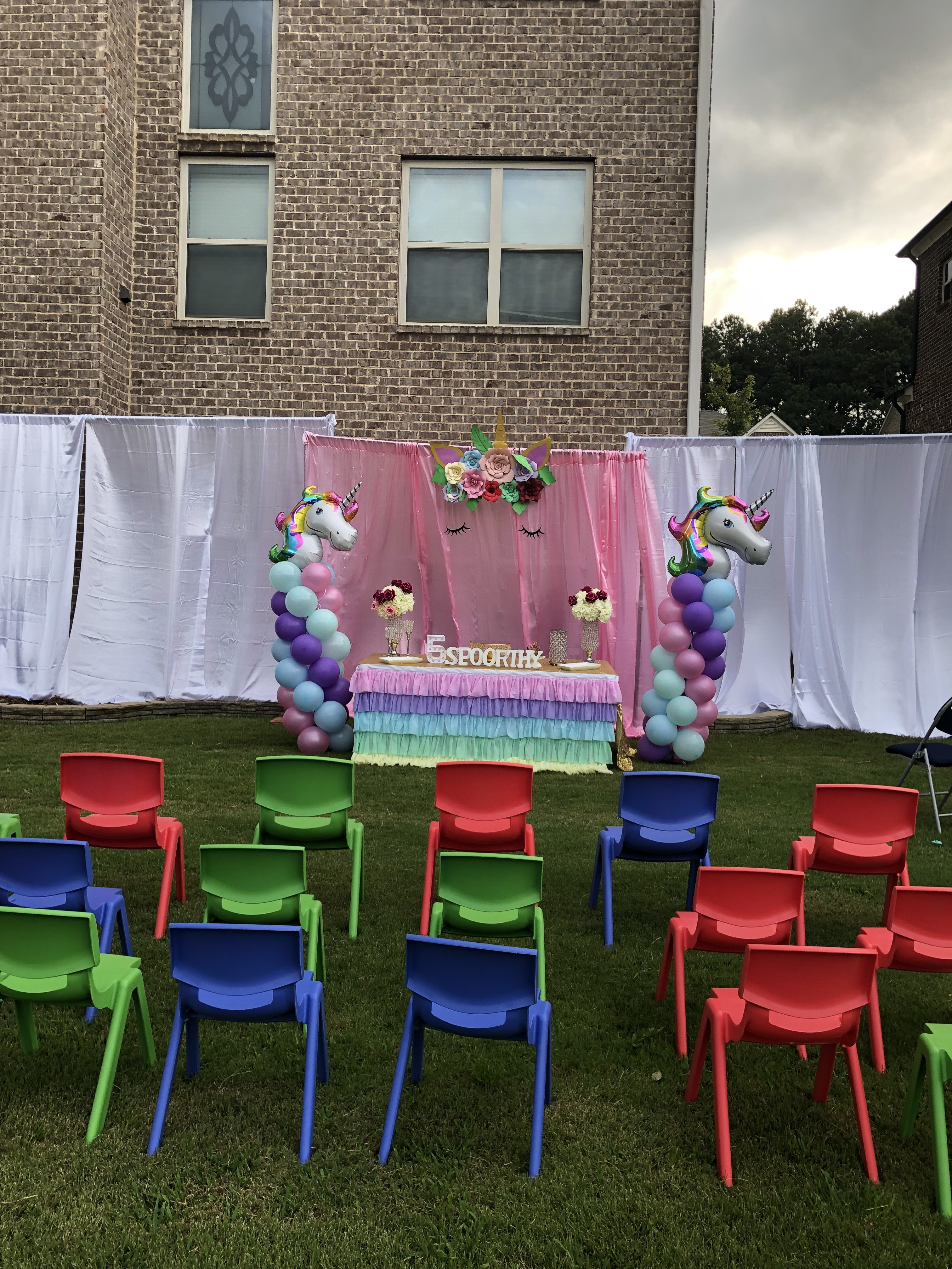Unicorn Theme Birthday Party Outdoor Decorations In Atlanta Anju Events Decorations Best Party Event Planning And Decorations In Atlanta Birthday Parties Graduation Parties More
